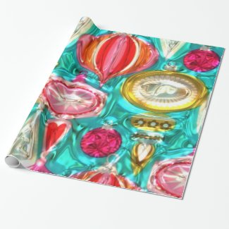 Faux Metallic Bulb Pattern Glossy wrapping paper