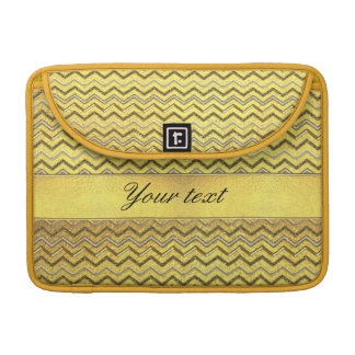 Faux Metallic Glitter Chevrons Gold Foil MacBook Pro Sleeve