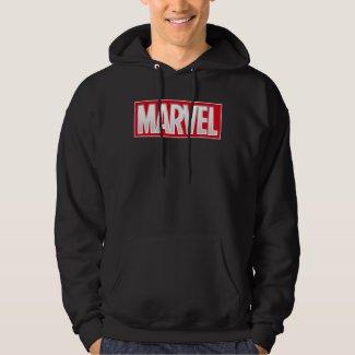 Faux Metallic Marvel Logo Hoodie