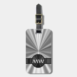 Faux metallic monogrammed bag tag
