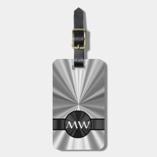 Faux metallic monogrammed tag for luggage