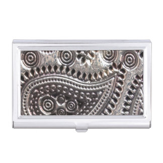 Faux Metallic Paisley Business card holder