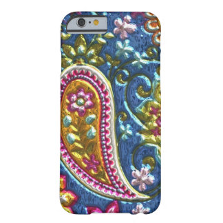 Faux Metallic Paisley Pattern iPhone 6 slim case