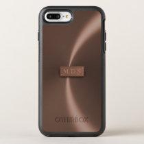 Faux Metallic Rose Gold OtterBox 3D Monogram OtterBox Symmetry iPhone 8 Plus/7 Plus Case