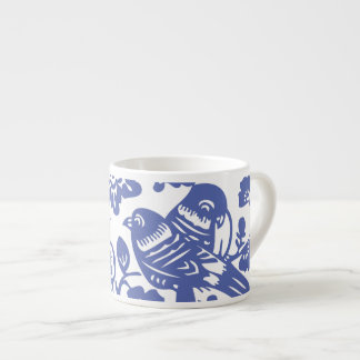 Faux Ming Vase Porcelain Espresso Cup