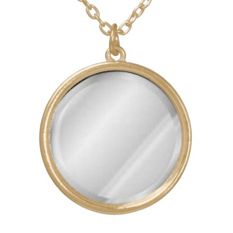 Faux Mirror Pendant Necklace