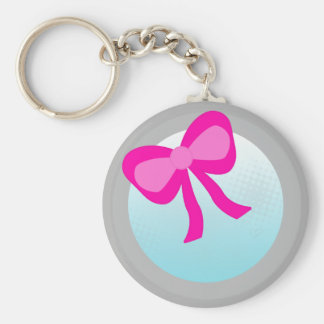 Faux Mirror with bow Keychain