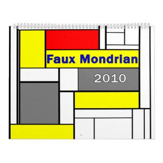 Faux Mondrian 2010 Calendar