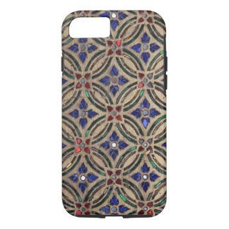 Faux mosaic tile pattern stone glass photo Morocco iPhone 7 Case