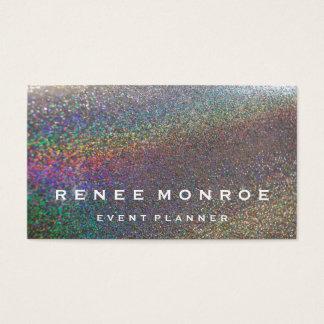 Faux Multi Glitter Fun Modern Business Card