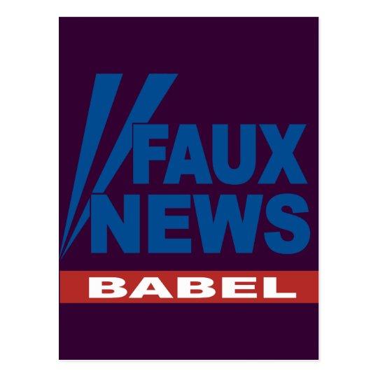 FAUX NEWS BABEL POSTCARD