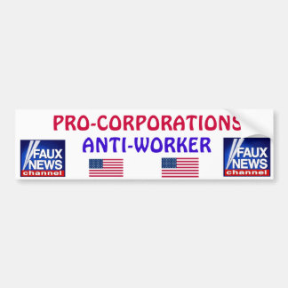 FAUX NEWS* Bumper Sticker