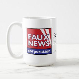 Faux News: Easier than thinking Coffee Mug