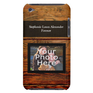 Faux Oiled Wood Plank Personalized Custom Barely There iPod Cover