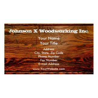 Faux Oiled Wood Plank Personalized Custom Double-Sided Standard Business Cards (Pack Of 100)