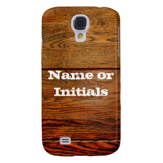 Faux Oiled Wood Plank Personalized Custom Samsung Galaxy S4 Covers