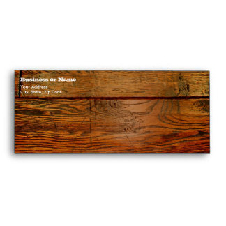 Faux Oiled Wood Plank Personalized Custom Envelope