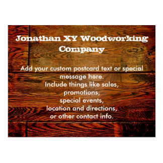 Faux Oiled Wood Plank Personalized Custom Postcard