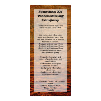 Faux Oiled Wood Plank Personalized Custom Rack Card