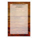 Faux Oiled Wood Plank Personalized Custom Customized Stationery