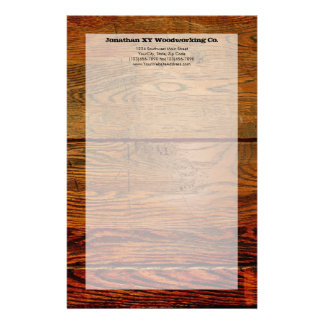 Faux Oiled Wood Plank Personalized Custom Stationery