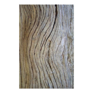 Faux Old Curved Cypress Tree Bark Stationery