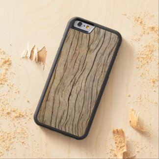 Faux Old Cypress Tree Bark Carved® Maple iPhone 6 Bumper