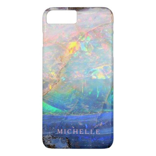 Faux opal gem gemstone mineral bling bokeh custom Phone Case