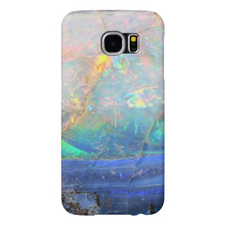 Faux opal gem gemstone mineral bling bokeh hipster samsung galaxy s6 case