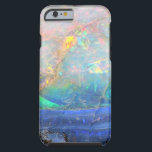 "Faux opal gem gemstone mineral bling bokeh hipster tough iPhone 6 case<br><div class=""desc"">Hipster,  trendy faux iridescent opal photo gem crystal quartz gemstone mineral geode science specimen photograph - geeky,  stylish,  cool,  simple,  faux blingy hipster bokeh like photo iPhone 6 Tough case.</div>"