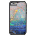 Faux opal gem gemstone mineral bling bokeh hipster tough xtreme iPhone 6 case