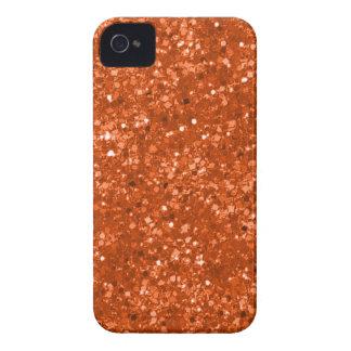 Faux Orange Glitter iPhone 4 Case