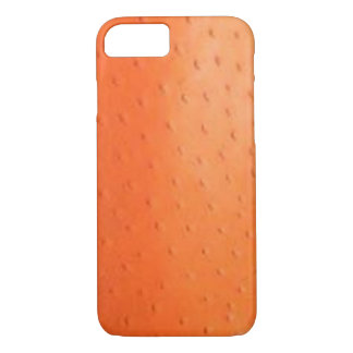 Faux Orange Ostrich Skin Case
