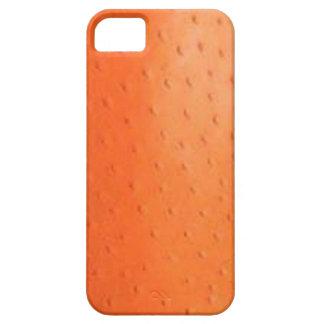 Faux Orange Ostrich Skin Case-Mate Case
