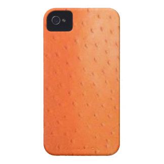 Faux Orange Ostrich Skin Case-Mate Case iPhone 4 Cases