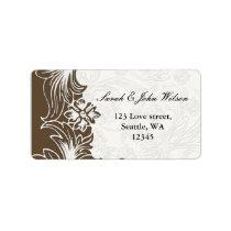 FAUX paper cutout brown address labels