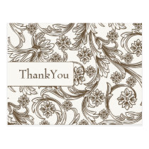 FAUX paper cutout brown thank you cards