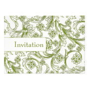 green floral wedding invites by mgdezigns