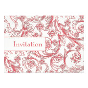 Pink floral wedding invites by mgdezigns