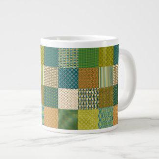 Faux Patchwork, Earth Colors: Jumbo Coffee Mug