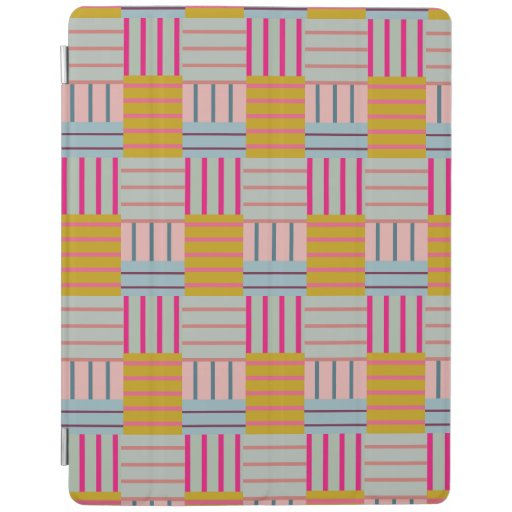 Faux Patchwork Pastel iPad Smart Cover
