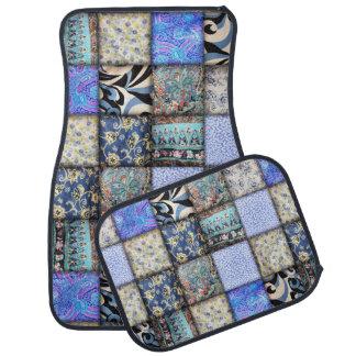 Faux Patchwork Quilting - Blue Floor Mat