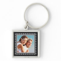 Faux Pewter Ornate Frame Template Keychain