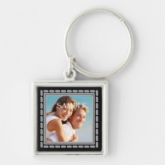 Faux Pewter Ornate Frame Template Key Chain