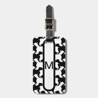Faux pied-de-poule with Dogs fashion Luggage Tag 2