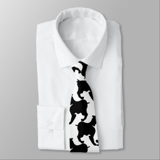 Faux pied-de-poule with L Dogs fashion Tie 2