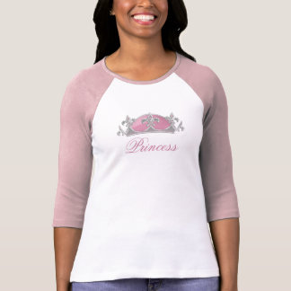 Faux Pink and Silver Crown with Diamonds T Shirt