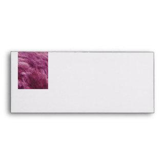 Faux Pink Cat Fur Envelope