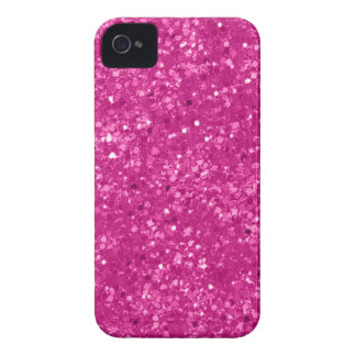 Faux Pink Glitter iPhone 4 Cases