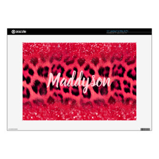 Faux Pink Glitter Leopard Spots For Teen Girls Skin For Laptop